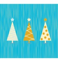 vintage Christmas tree pattern vector image