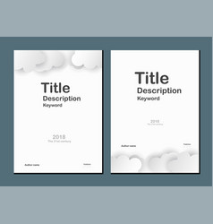 white cover for book and brochure with text space vector image