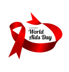 World aids day with red vector