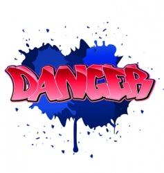 danger graffiti background vector image vector image