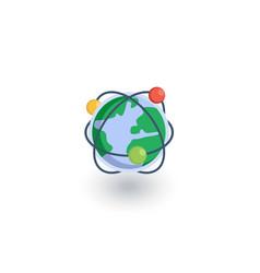 global communication network internet isometric vector image vector image