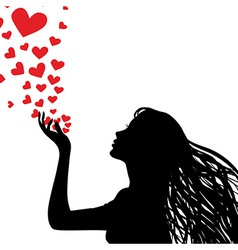 love kiss vector image vector image