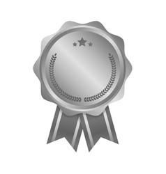 modern silver circle metal badge label and design vector image