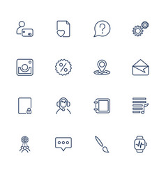 simple icons set app icons universal set for web vector image
