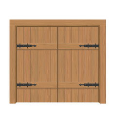 Wooden door gate interior apartment closed double vector