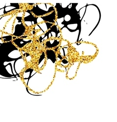 Abstract golden and black stains design element vector image vector image