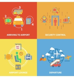 Airport icon flat composition vector image vector image
