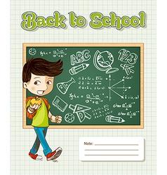 Back to school education cartoon kid vector image vector image