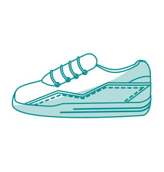 blue silhouette shading sneaker sport shoes vector image vector image