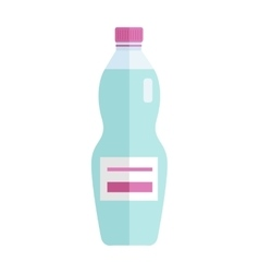 Glass or Plastic Bottle with Sweet Blue Beverage vector image vector image