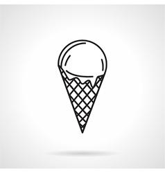 Ice cream black line icon vector image vector image