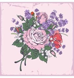Rose and lavender vector