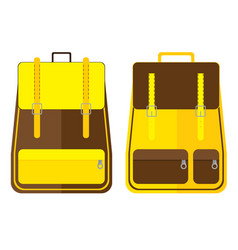 School bag design isolated on white background vector