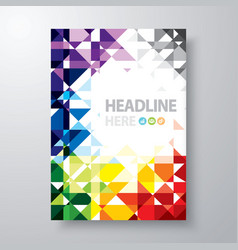 Abstract book cover vector image