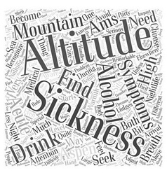 aspen nightlife and the altitude Word Cloud vector image vector image