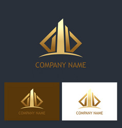 building business logo vector image