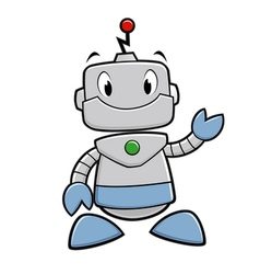 Cartoon Robot vector image vector image