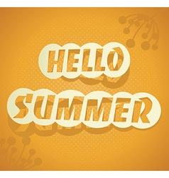 Hello summer summer background vector