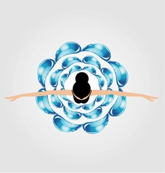 A dancing girl surrounded by water droplets vector