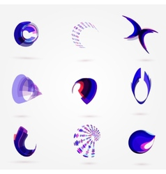 abstract 3d business logo set for your vector image vector image