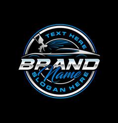 Autopaint logo emblem template vector