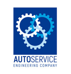 Autoservice logo template with gears vector