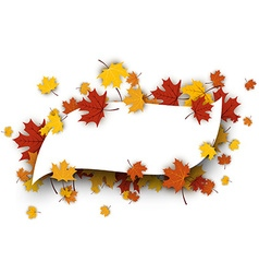 Autumn figured background with maple leaves vector