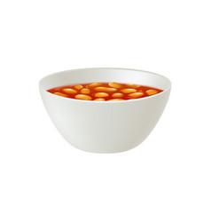 Baked beans bowl vector