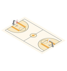 basketball field arena vector image