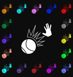 Basketball icon sign Lots of colorful symbols for vector image