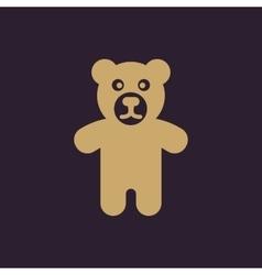 Bear icon design Toy Bear symbol web graphic vector