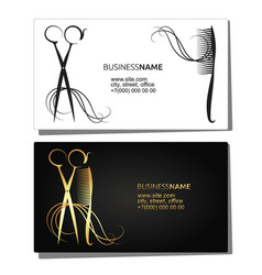 Beauty salon business card vector