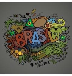 Brasil Summer hand lettering vector