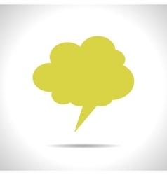 Callout cloud icon Eps10 vector