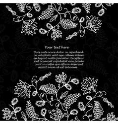 chalkboard floral background vector image vector image