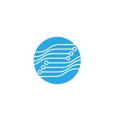 circuit logo template vector image