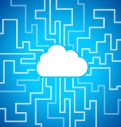 Cloud computing theme vector image vector image