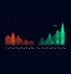 Complex futuristic infographics data thread vector