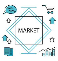 digital market media planning online business vector image
