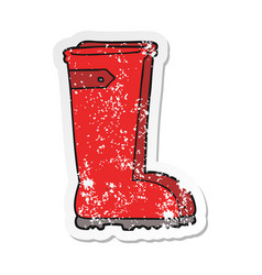 Distressed sticker of a cartoon wellington boots vector