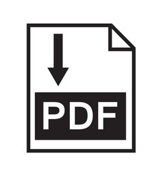 download pdf file button isolated on white vector image