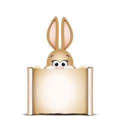 easter card design template easter funny bunny vector image