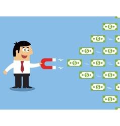 Employee money magnet vector image
