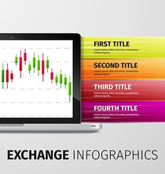 Exchange infographics vector image