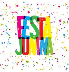 Festa junina confetti background vector