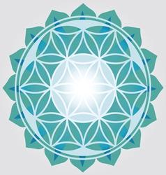 Flower of Life blue design vector image vector image