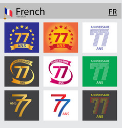 French set number 77 templates vector