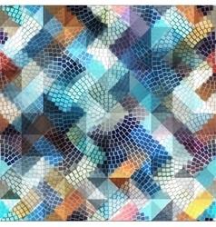 Geometric mosaic pattern vector