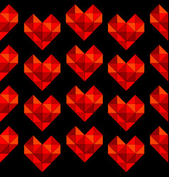 geometrical hearts made of triangle seamless vector image