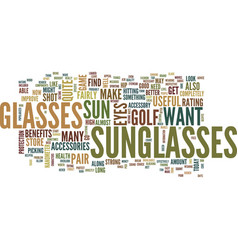 golf accessories in the form of eyewear text vector image